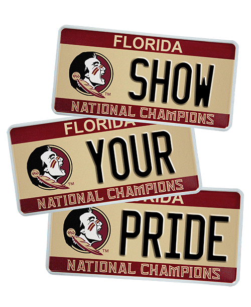 Show your pride with the FSU tag
