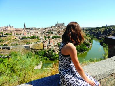 Samantha Arvin on a weekend excursion in Toledo, Spain.