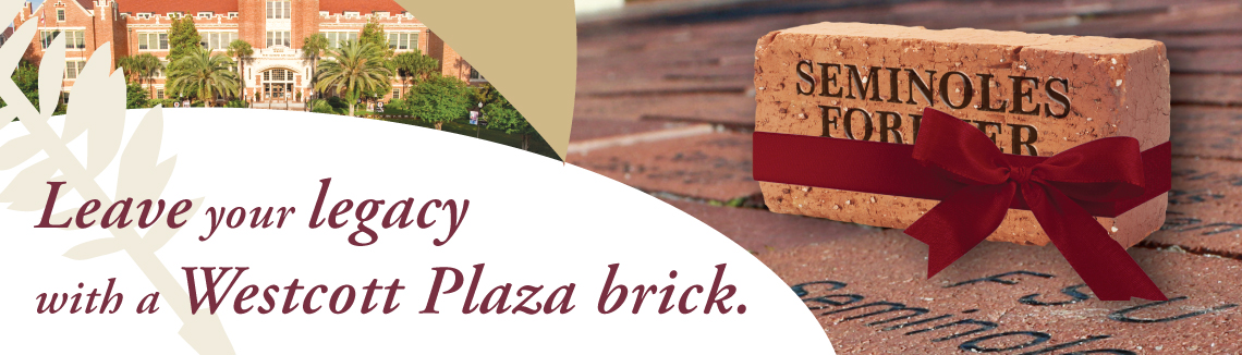 Leave your legacy with a Westcott Plaza brick